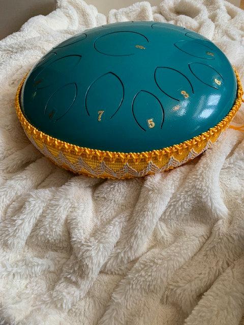 14 inch turquoise 15 tones steel tongue drum