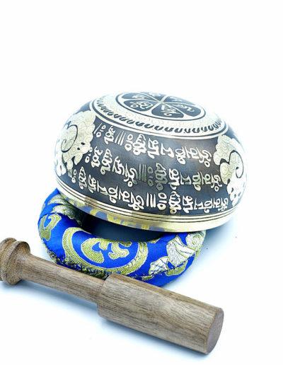 4 inch carving brass himalayan singing bowl