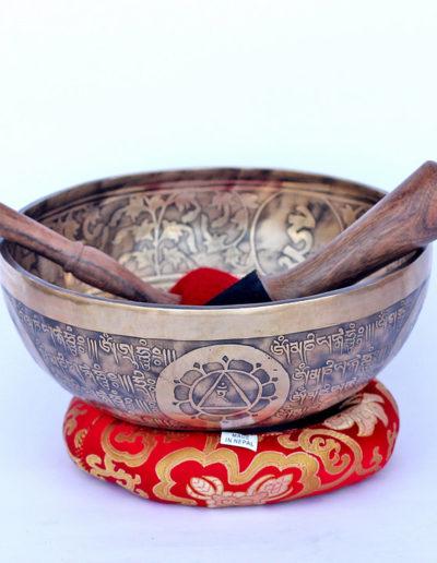 brown singing bowl top